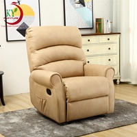 JKY Furniture Modern Home Theater Cinema Manual Recliner Sofa Chair