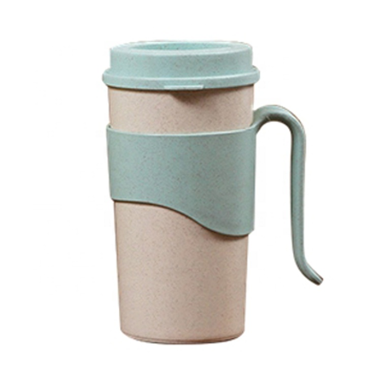 AFTCE080B Wheat Straw Water Bottles Mini Plastic Drinking Cup With Logo For Home Office