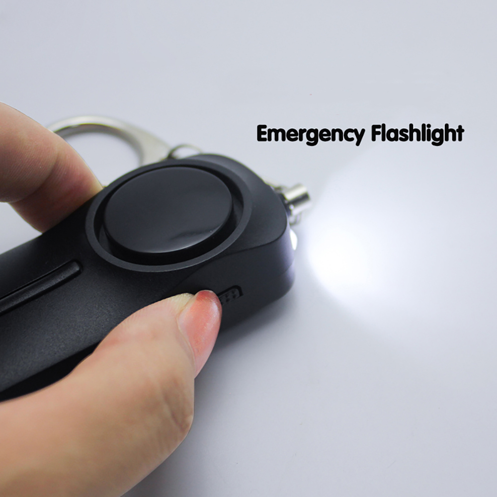 130db high db self defense weapons panic alarm device led keychain flashlight personal alarm