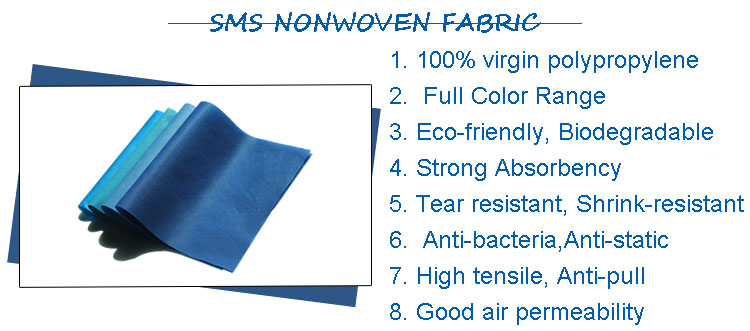 spunbond meltblown spunbond sms melt blown nonwoven fabric non woven raw material