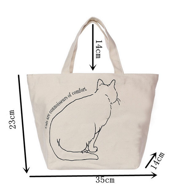Fashion canvas handled style handbag customized canvas tote bag promotional