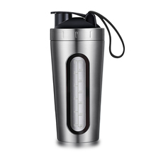 Air Minum Gym Insulated Stainless Steel Logam Bpa Gratis Protien Blend <span class=keywords><strong>Protein</strong></span> Shaker <span class=keywords><strong>Botol</strong></span> dengan Logo Kustom Private Label