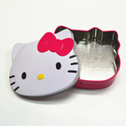 Cat Head Shaped Metal Candy Tin, Toy Can, Cat Tin Box