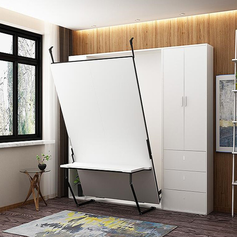 Modern Multifunction Vertical Folding Hidden Wall Bed Murphy Bed