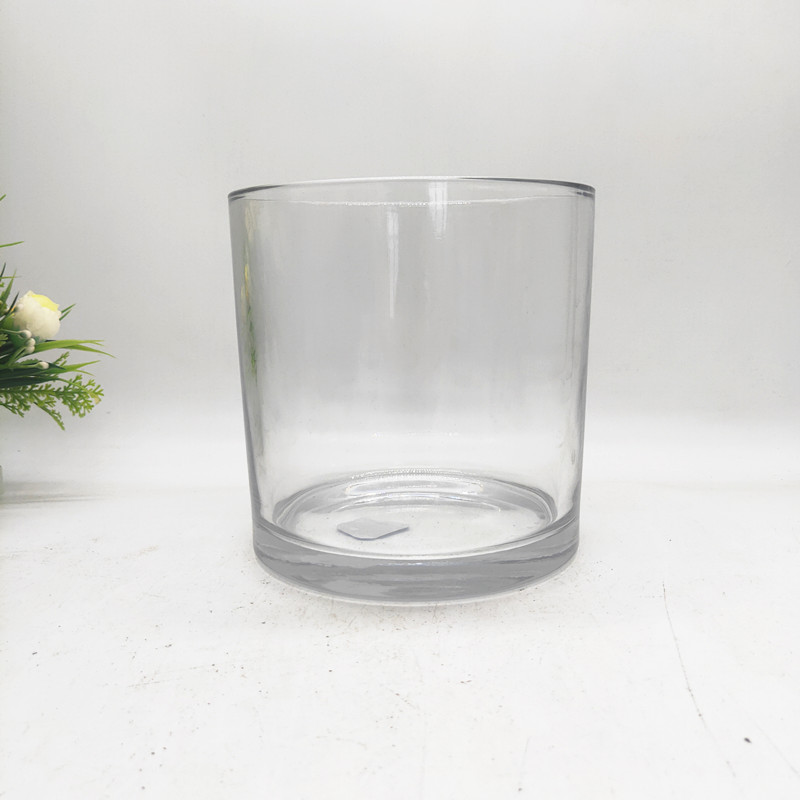 Large glass candle holder  63 oz candlestick empty glass jar