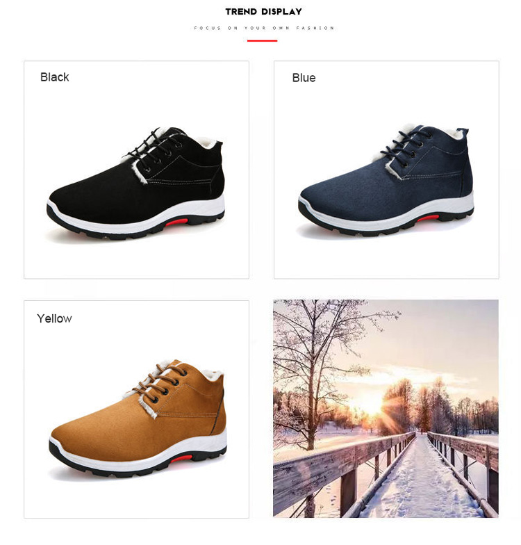 Hot sale high quality winter men shoes men's boots