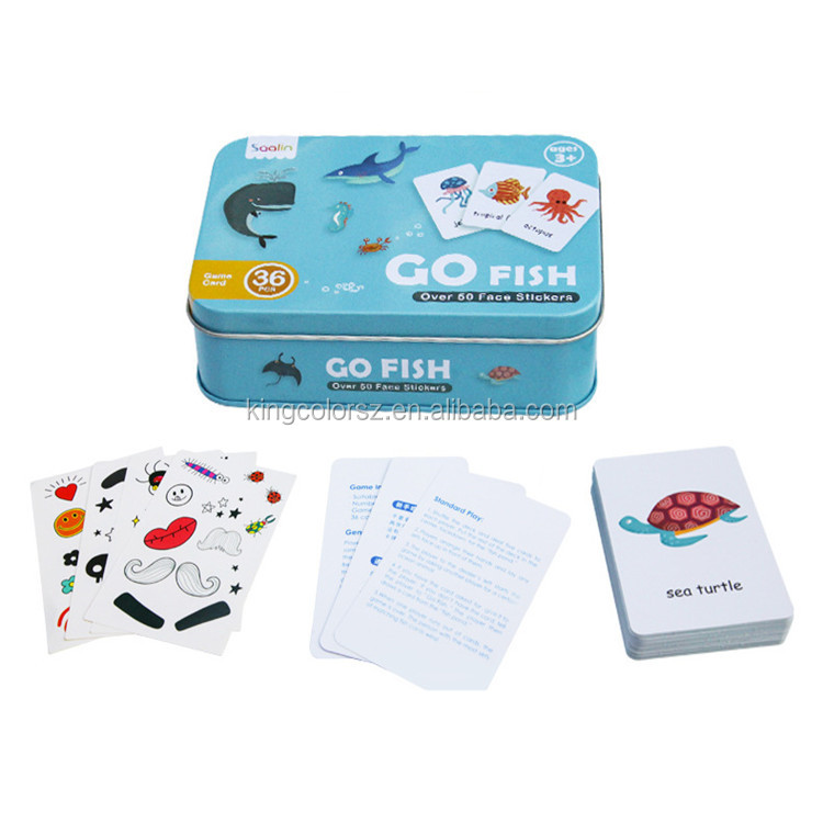 China Custom Cheap waterproof printing graphic game flash card with standard size for kids