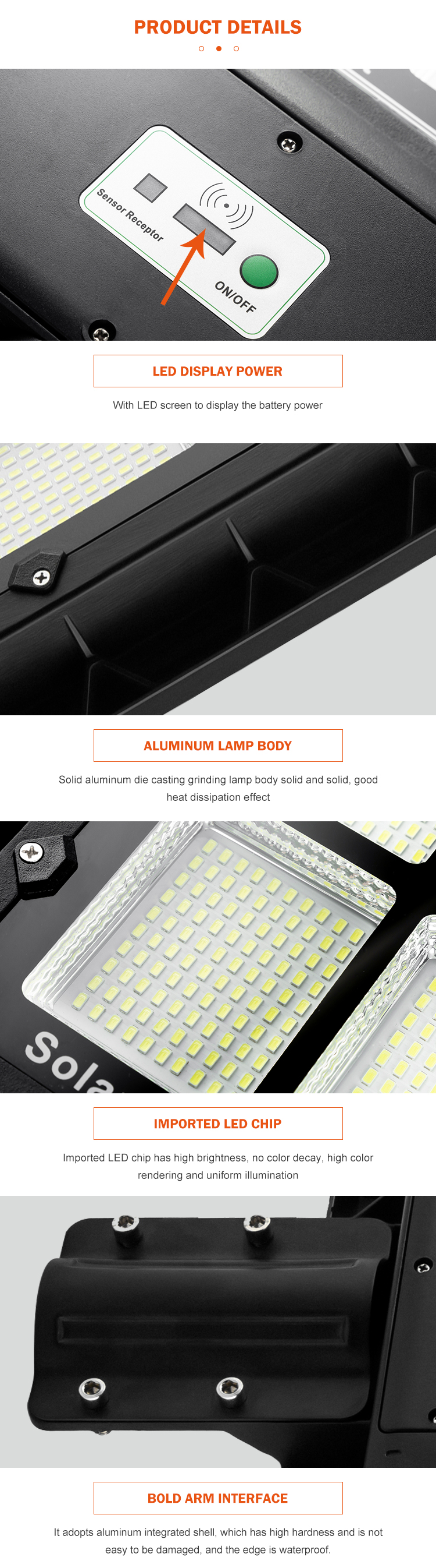 Integrated high brightness highway 60w 120w 180w outdoor all in one led solar street light