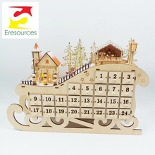 Sperrholz Laser Cut Light Up Weihnachten <span class=keywords><strong>Holz</strong></span> Advent Kalender
