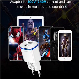 5V 2.1A USB Charger Wall Mobile Phone Charger For iPhone Xiaomi Mi Tablet iPad EU US Plug Adapter Fast Charging