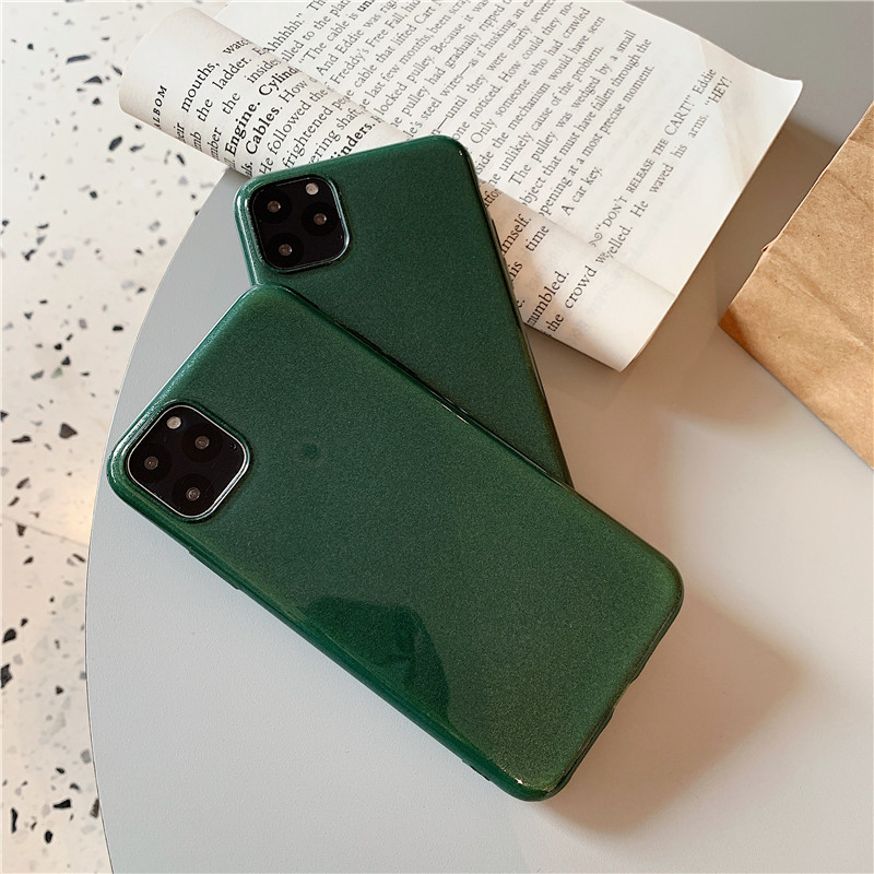 For iPhone 11 Pro Max X XS Cases Midnight Green Silicone Cover Shockproof Phone Case , for iphone 11 pro midnight green case