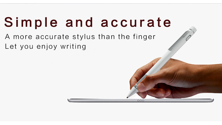 Rechargeable Active Stylus Pen Touch Screens Capacitive Active Smart Digital Pen 1.45mm Fine Point Copper Tip Touch Stylus Metal