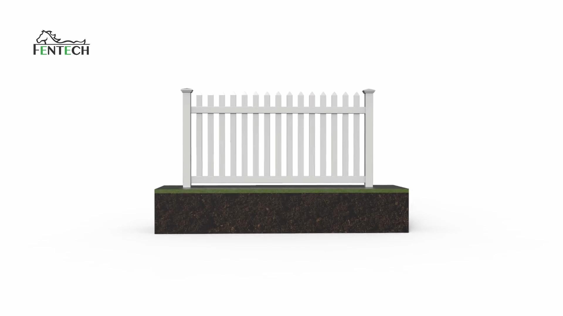УФ-стойкий белый ПВХ пластиковый виниловый забор панели для продажи