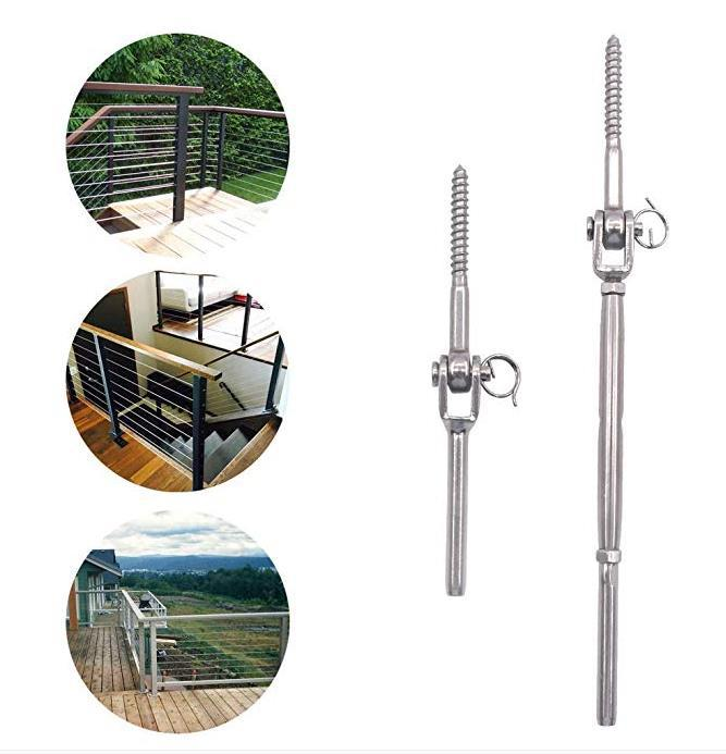 Amazon Hot Sale High Quality Stainless Steel  DIY Wire Rope Railing Cable Railing Kits