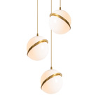 ST-1706-3L Acrylic design chandelier apple shaped 3 ball pendant lamp