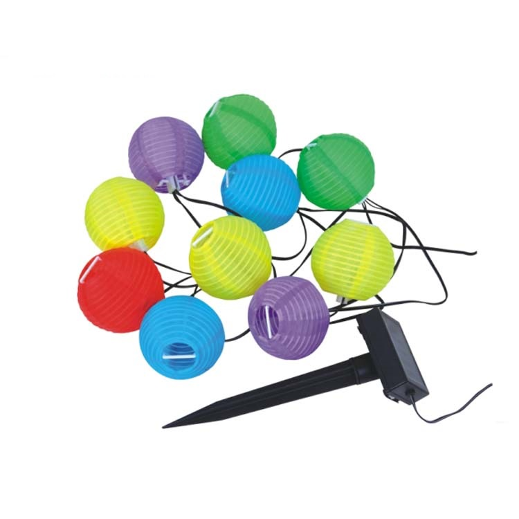 Solar LED Lanterns String Light, 10 LED Waterproof Outdoor Decorative Stringed LED Light, Flag lantern