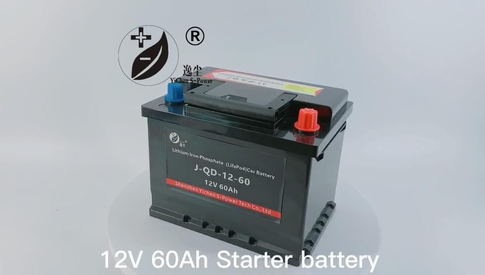Batterie de voiture au Lithium 12V, 80060 ah, pour véhicule électrique, Super léger avec système de démarrage, à manivelle, sans entretien