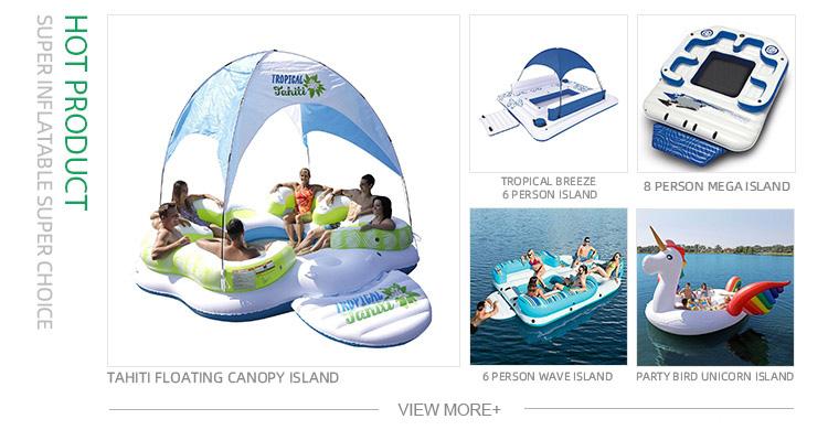 Nuevo 6 persona inflables de agua flotante isla lago Ppool balsa para venta