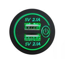 Водонепроницаемый автомобильный адаптер для быстрой зарядки, прочный адаптер для автомобильного мотоцикла, двойной USB 4,8a мобильный телефо...(Китай)