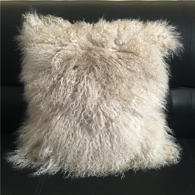 Real tibet lamb fur curly hair cushion