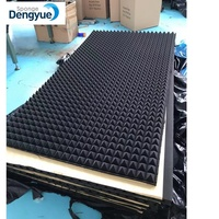 Fire retardant sound absorbing soundproof material studio pyramid acoustic egg crate foam acoustic studio foam