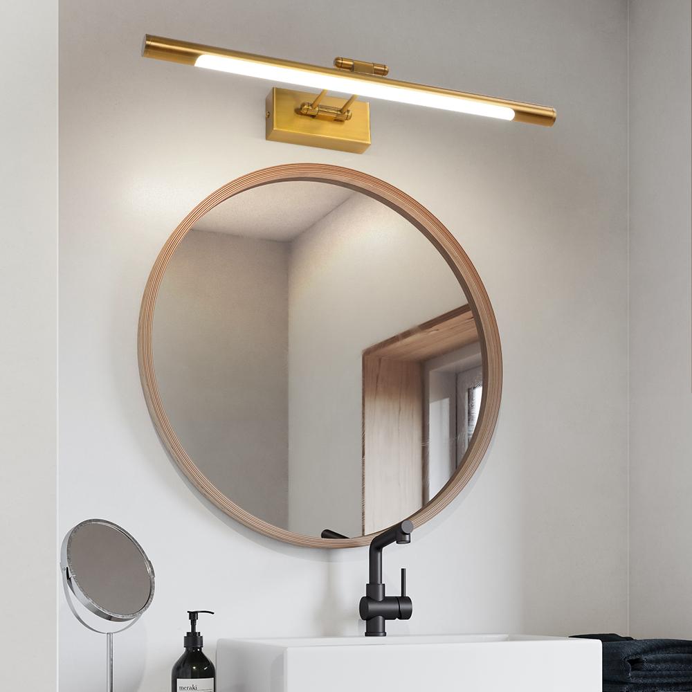 led indoor wall sconce bathroom 8W Antique Brass LED Picture light For hotel 100-240V bathroom lighting vanity mirror lights