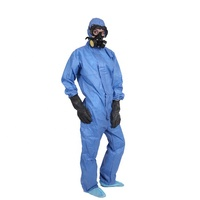 Biodegradable Breathable SMS Fabric Resistant Boiler Type 5&6 Microporous Workwear Suit Coverall