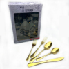 20pc gold (Dinner knife/fork/spoon  Des spoon/salad fork)