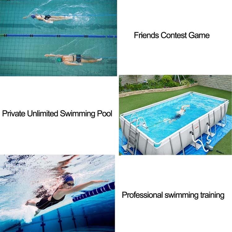 Blx 4m entrenador estacionario piscina cable para nadar bungee bandas elásticas de resistencia cuerdas Correa nadar cinturones tubos de resistencia