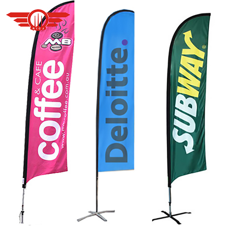 Advertising Single/Double Sided Display Feather Banner <strong>Flag</strong> With Square Stand