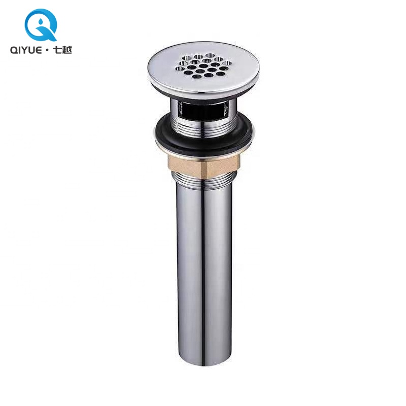 Hot sales bathroom chrome plated sink drainer, brass waste <strong>drain</strong> for public basin with overflow