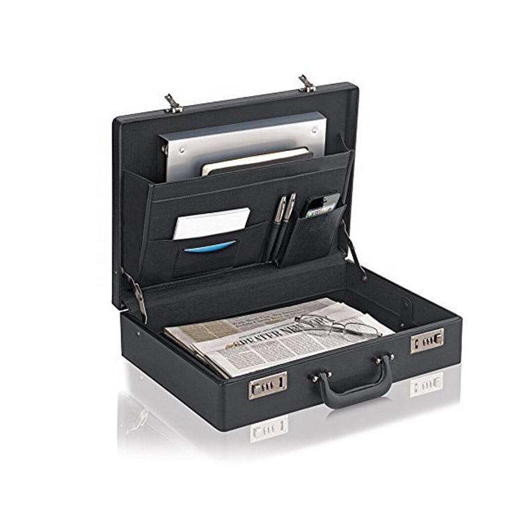 office business leather portfolio document  briefcase box