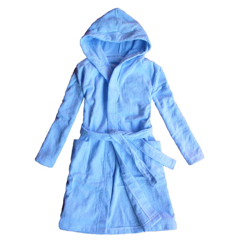 100% cotton terry towelling children's bathrobe,kids cloth robes with hooded long