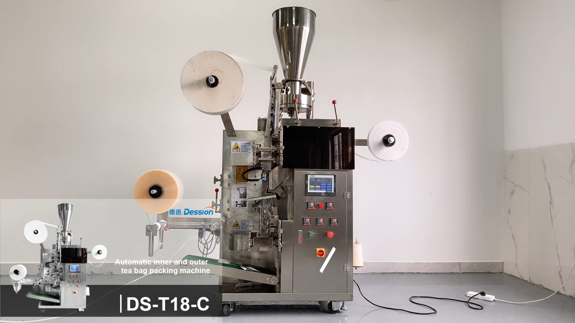 Kecepatan Tinggi Double Chamber Filter Dip Kantong Teh Kemasan Mesin dengan Tali dan Tag Otomatis Kantong Teh Kemasan Mesin