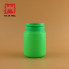 Green 100ml Flip Cover Round Shape Plastic Capsule Pill Bottle
