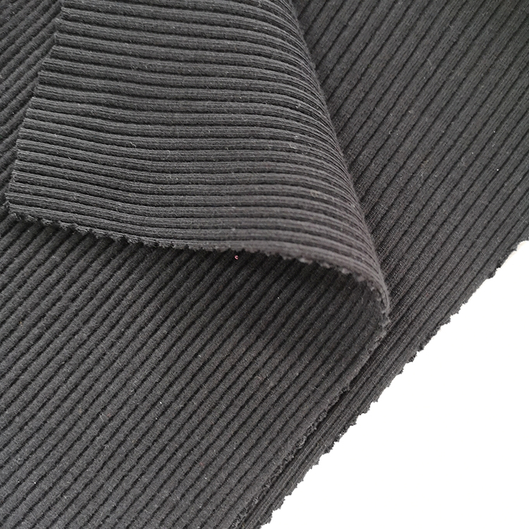 High stretch cotton spandex 4x4 rib knit fabric for winter clothes-18003672