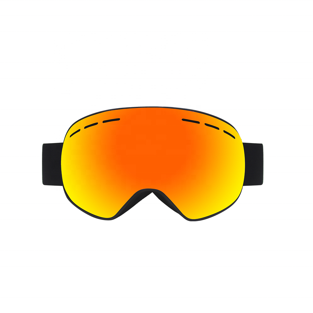 Brand ski goggles with box case double layers anti-fog lens big vision mask glasses motocross women men snow snowboard goggles