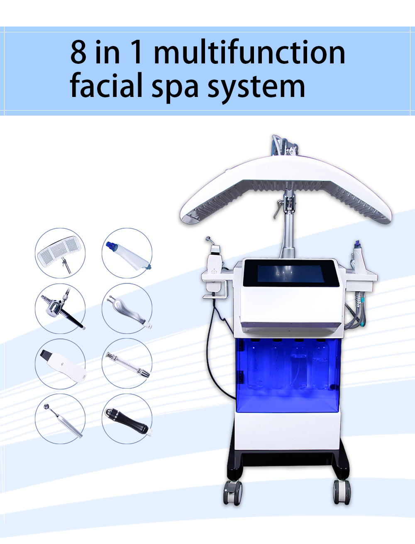 2020 New SPA600 hydra dermabrasion facial machine/skin care hydro dermabrasion facial machine/SPA Oxygen Facial Beauty Machine