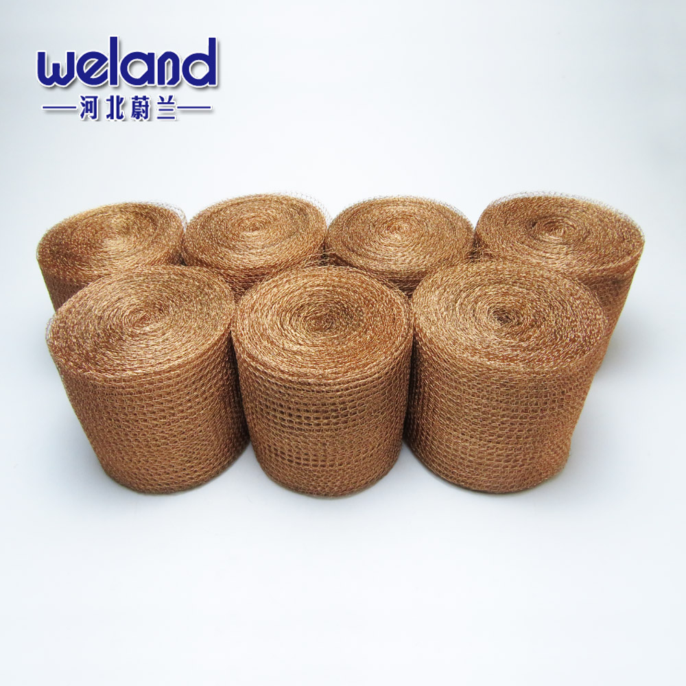 Woven 100mm Width Pure Copper Knitted Wire Mesh