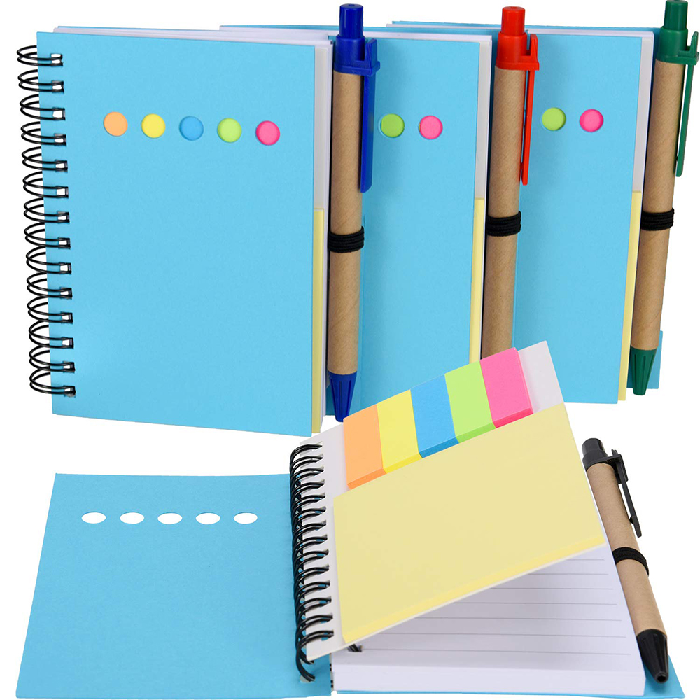 Cute Office Hot Sale Creative Coil Colorful Sticky Notepad Notebook