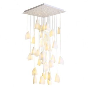 Nordic Simple White Roll Paper Modeling Ballroom Staircase Villa Lights Postmodern Living Room Dining Room Chandelier