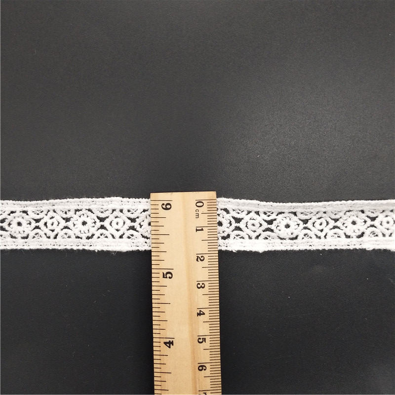 narrow crochet lace trim cotton stock