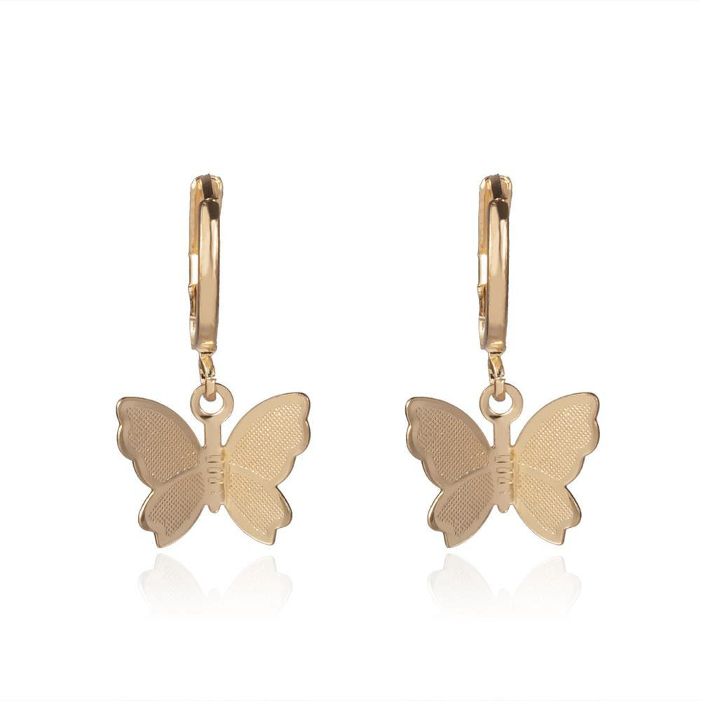 VRIUA Bohemian Butterfly Drop <strong>Earrings</strong> for Women Cute Insect <strong>Gold</strong> Silver Simple Pendant <strong>Earrings</strong> Girls Fashion Jewelry