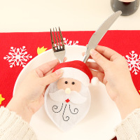 Latest Popular Christmas Snowman Dining Table Decoration Santa Claus Tableware Knife Fork Cutlery Set Cover