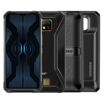 IP68/IP69K DOOGEE S95 Pro Modular Rugged Mobile Phone 6.3inch Display 5150mAh Helio P90 Octa Core 8GB 128GB 48MP Cam Android 9.0