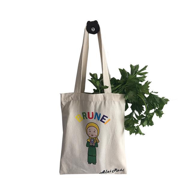Commercio all'ingrosso a buon mercato eco-friendly di commercio equo e solidale organico cotone lavabile della spesa shopping bag di tela tote borse