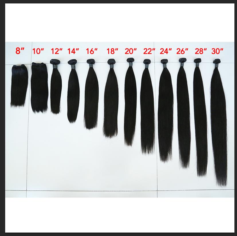 Remy Virgin Human Hair Straight Hair Bundles Extensions Brazilian Straight Bundles With Closure