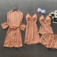Халаты, наборы, 2020, кимоно в горошек, халат, модный халат, сексуальная одежда для сна, Свадебный пеньюар, халаты, мягкие халаты подружки невес...(Китай)