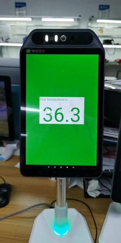 額温度測定端子 10.1 インチ出席マシン温度測定とレポート GC116C