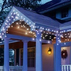 Window Curtain Fairy Lights with 60 Drops Led Christmas Lights Icicle Fairy Twinkle Lights for Holiday Party Wedding
